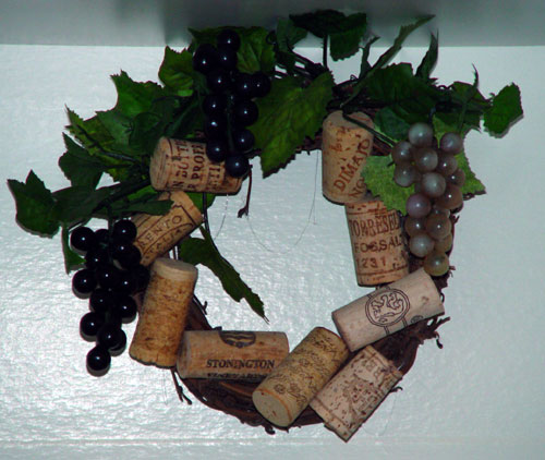 Wiine Cork Grapevine Wreath Design