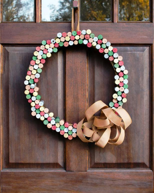 Wine Bottle Cork Wreath
