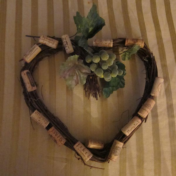 Wine Cork Heart Wreath Instructions