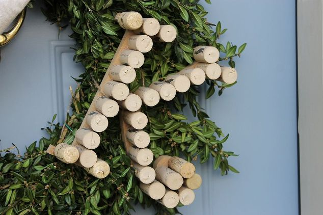 Wine Cork Monogrammed Boxwood Wreath