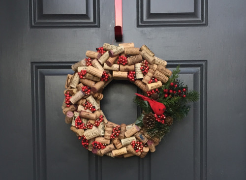 Wine Cork Wreath Centerpiece