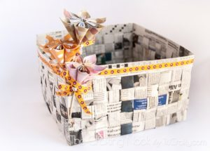 Amazing DIY Newspaper Basket Tutorial