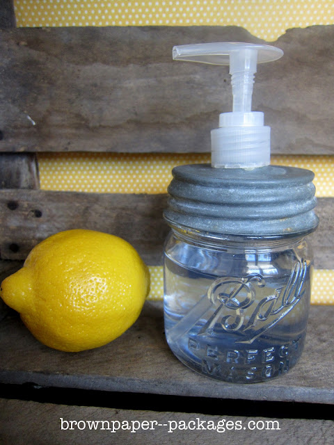 Antique Mason Jar Soap Dispenser