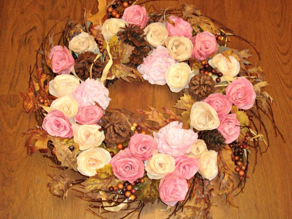Autumn Coffee Filters Wreath
