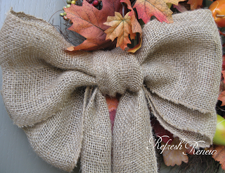 Burlap Bow Step by Step