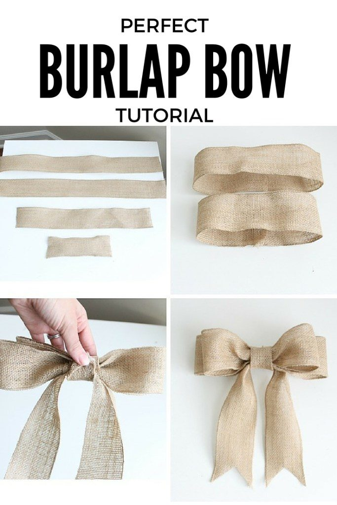Burlap Bows for Wedding