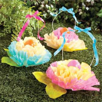 Coffee Filter Easter Flowers DIY
