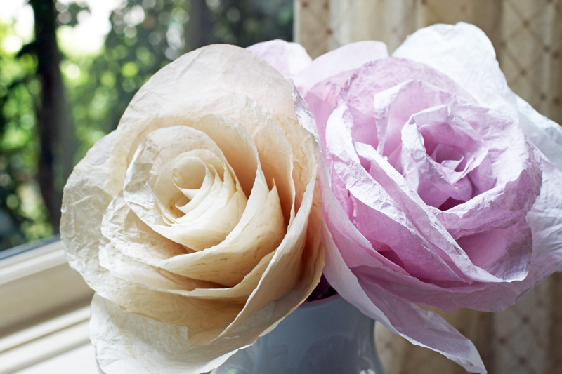 Coffee Filter Flower Decorations