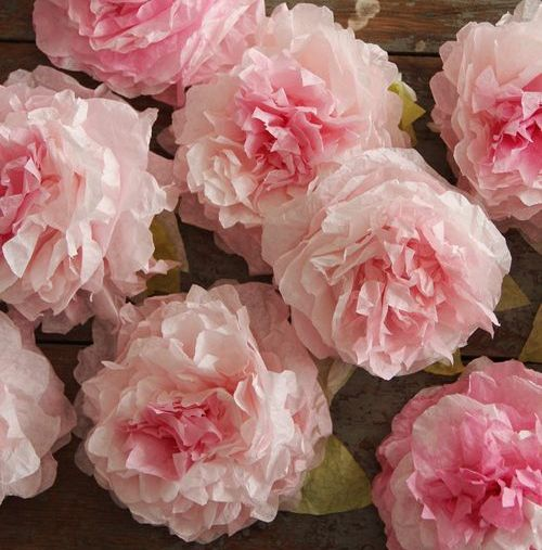 Coffee Filter Flowers Peonies DIY