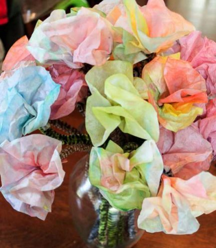Coffee Filter Flowers Preschool DIY