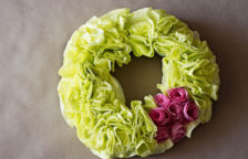 Coffee Filter Flowers Wreath