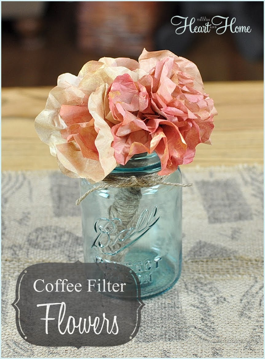 33  diy coffee filter flowers tutorials
