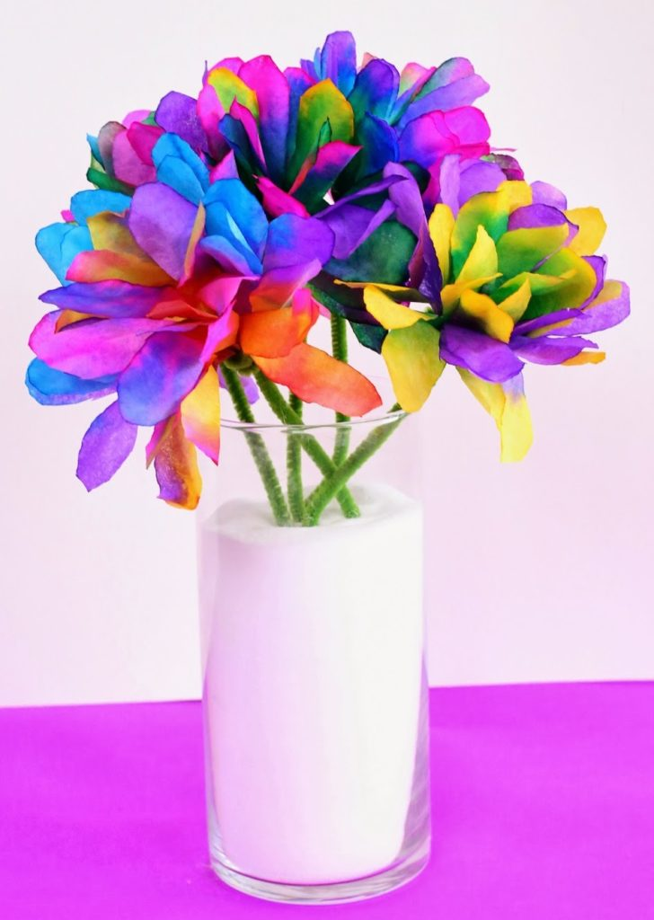 Coffee Filter Flowers for Kids