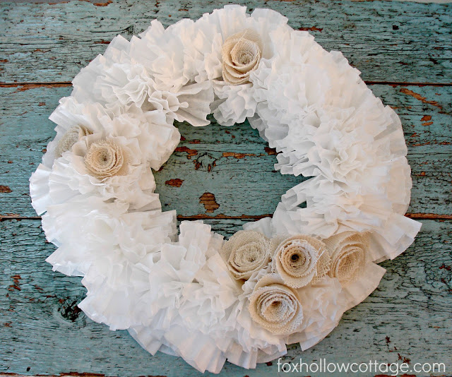 Coffee Filter Wreath Images DIY