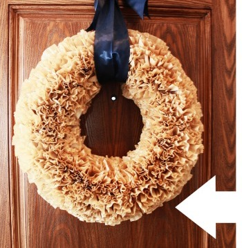Coffee Filter Wreaths