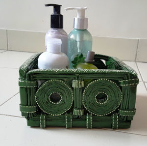 Coiled Newspaper Basket Craft