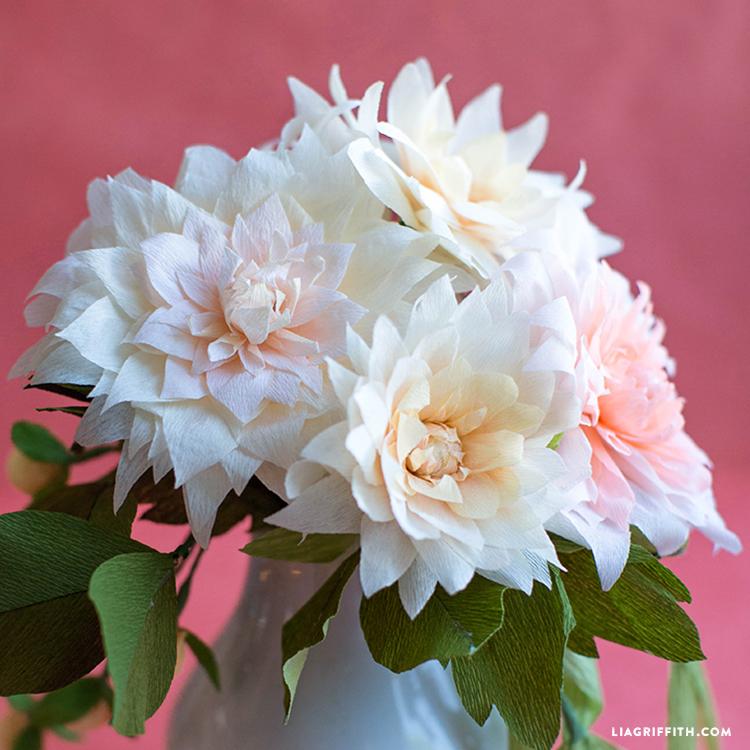 Crepe Paper Flower Dahlia DIY