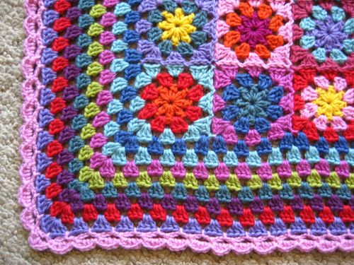Crochet Border for Granny Square Blanket