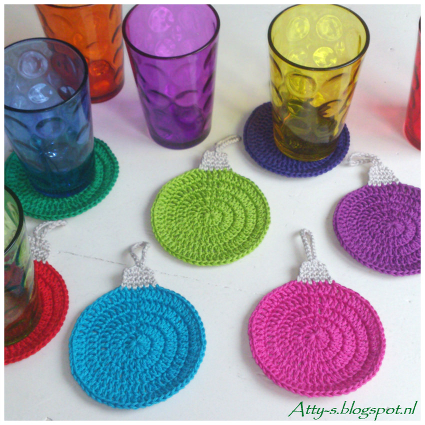 Crochet Coaster Pattern for Christmas