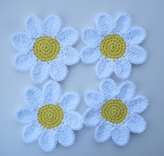Crochet Daisy Coaster Pattern