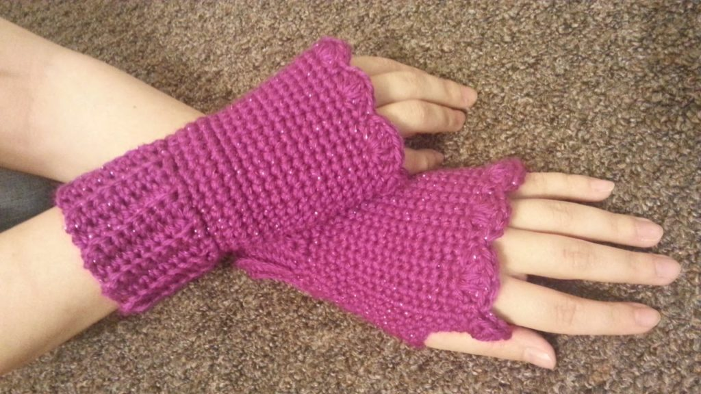 Crochet FIngerless Gloves Youtube