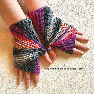 Crochet Fingerless Gloves Instructions