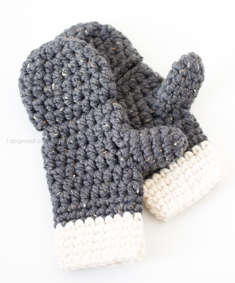 Crochet Fingerless Gloves Pattern with Flap