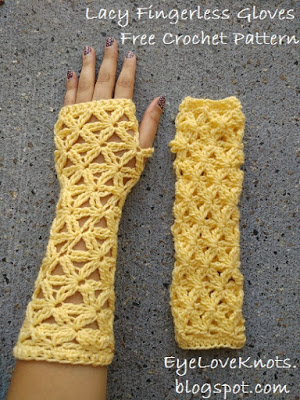 Crochet Lace Fingerless Gloves Pattern