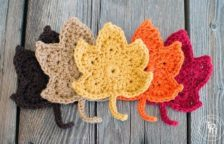 Crochet Leaf Coaster Pattern