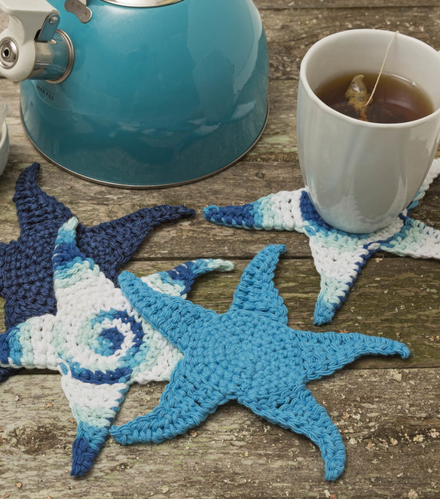 Crochet Starfish Coasters
