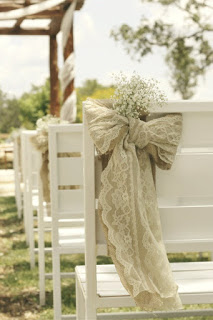 DIY Burlap Wedding Pew Bows