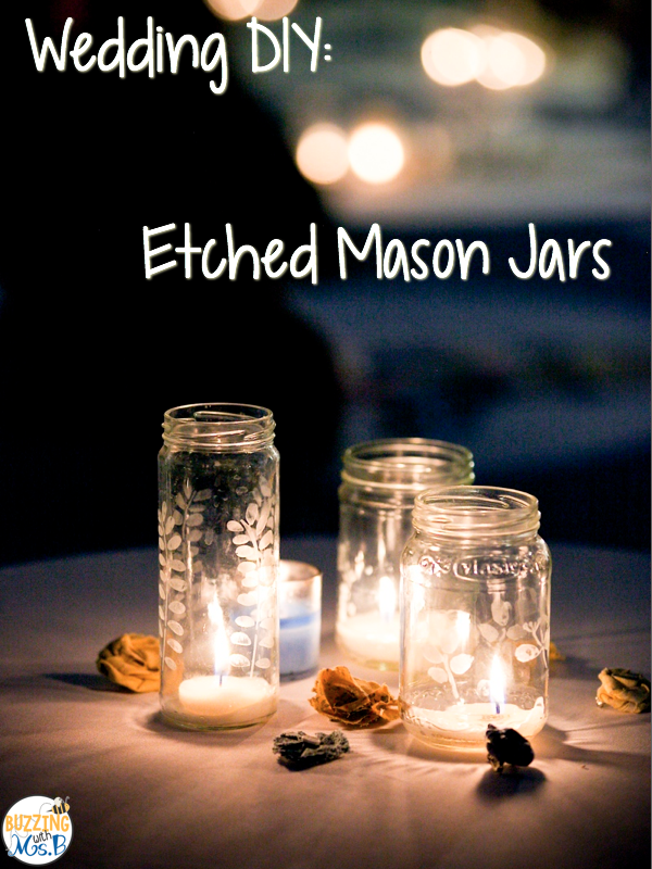 DIY Etched Mason Jar Candle Holders