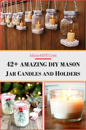 DIY Mason Jar Candles and Holders
