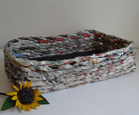 DIY Newspaper Basket Weaving Patterns