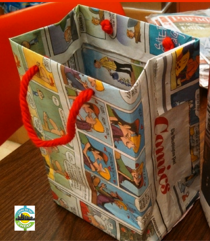 DIY Newspaper GIft Bag Tutorials