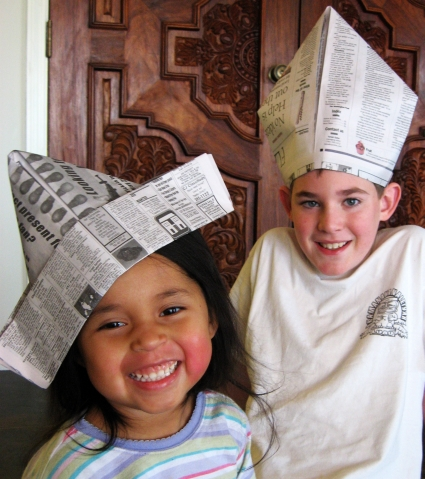 DIY Newspaper Party Hats