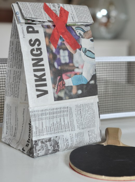 DIY Newspaper Shopping Bag