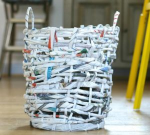 DIY Recycled Newspaper Baskets
