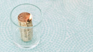 DIY Wine Cork Candles Ideas