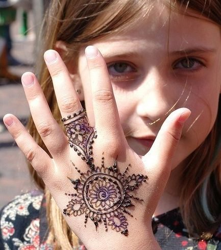 Designs of Mehndi for Kids