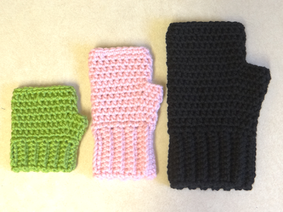 Easy Crochet Fingerless Gloves