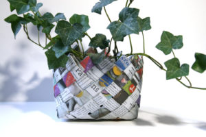 Easy Newspaper Basket Ideas