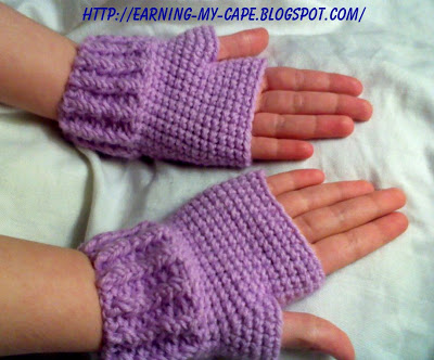 Fingerless Gloves Crochet Pattern Kids