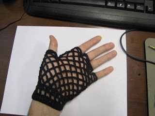 Fishnet Fingerless Gloves Crochet Pattern