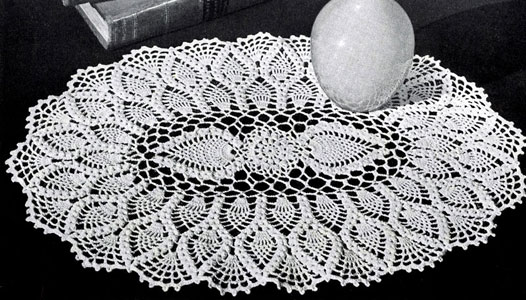Free Crochet Oval TableCloth Patterns