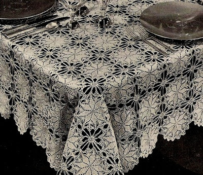 Free Crochet TableCloth Patterns Vintage