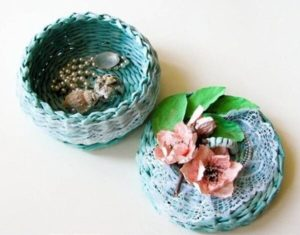 Free Woven Newspaper Basket with Lid