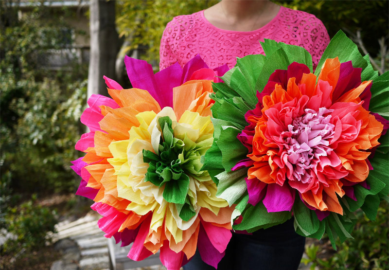 Giant Crepe Paper Flowers