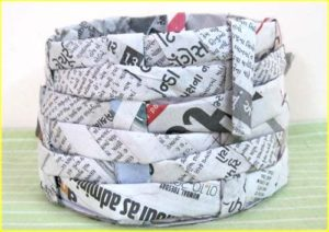 Handicraft Newspaper Basket