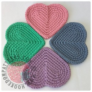 Heart Shaped Crochet Coaster Pattern
